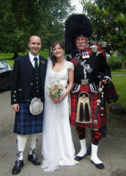 Alison and Ian with Jim at Haddo House Aberdeenshire