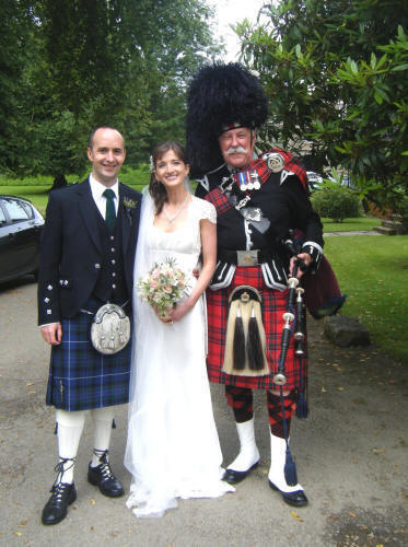 Alison and Ian with Jim at Haddo House 2