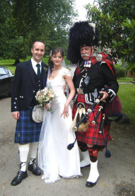 Alison and Ian with Jim at Haddo House Aberdeen