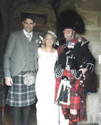 Andrea and Simon with Jim at Borthwick Castle