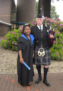 Catherine with Jim at the Heriot Watt Graduation's June 2012