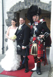 Hayley and Euan with Jim at Glenskirlie Castle 1