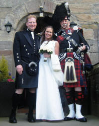 Weddings at Borthwick Castle with James A Nicholl Pipe Major