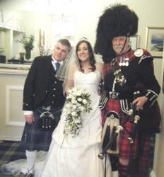 Laura and Paul with Jim at Strathblaine Country House Hotel
