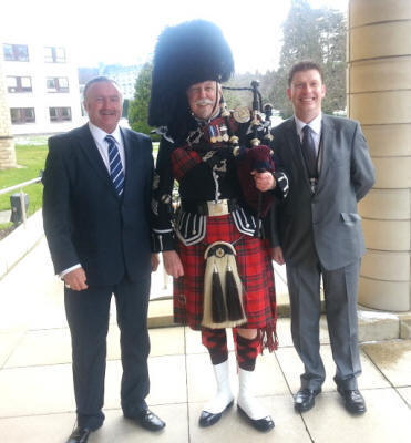 Tony and friends with Jim at Tulliallan Police college