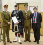Jim is presented with his lord Lieutenants Certificate