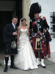 Lesleyanne and Jamie with Jim at the Barony Castle